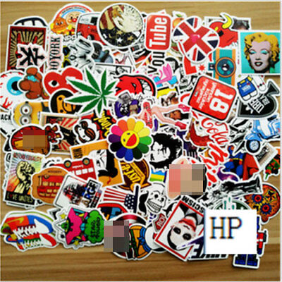 20pcs /lot Sticker Bomb Decal Vinyl Roll Car Skate Skateboard Laptop Luggage UU