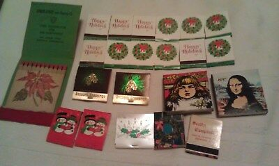 Lot of Vintage Christmas Matches, Hallmark Scotty Campbells Stack Steel Holiday