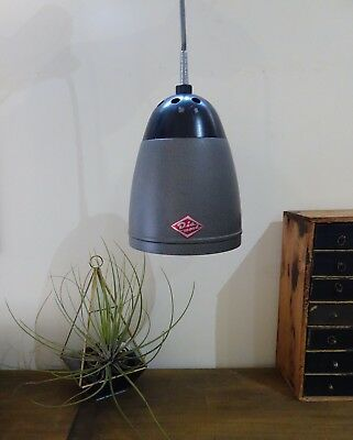 Vintage Industrial Metal Hanging Light, Diamond Brand, Pendant Lamp 1960s