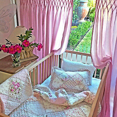 Tara Baby Girls Shabby Rose Cot Crib Nursery Blanket Bedspread  & Pillowcase Set