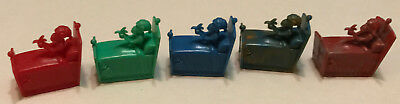 R&l Cereal Toy ~Crazy Camel Train 1969, 5 Bed Monkeys! No Nubs, Aussie Kelloggs