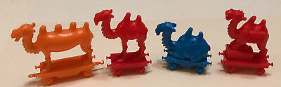 R&L CEREAL TOY ~CRAZY CAMEL TRAIN 1969 ~ 4 CAMELS w/ALL WHEELS! AUSSIE KELLOGGS