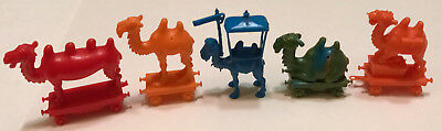 R&l Cereal Toy ~Crazy Camel Train 1969 ~ 5 Camels, All Wheels ~ Aussie Kelloggs