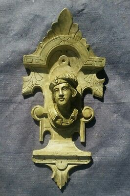 Antique carving pediment fantastic detail walnut William Tell figural