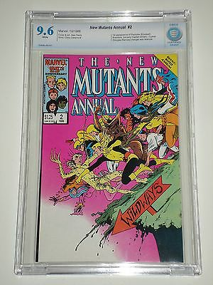 New Mutants Annual 2 CBCS Graded 9.6 (Similar to CGC) 1st Appearance of Psylocke
