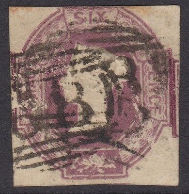 GB QV 6d embossed cut square (our ref lot3)