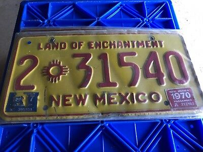 1970 New Mexico License Plate 2 31540