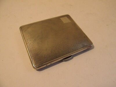 solid silver cigarette case.   london 1936