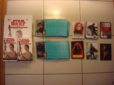 2017 Topps Star Wars Journey To The Last Jedi Complete Master Set of 176 Cards