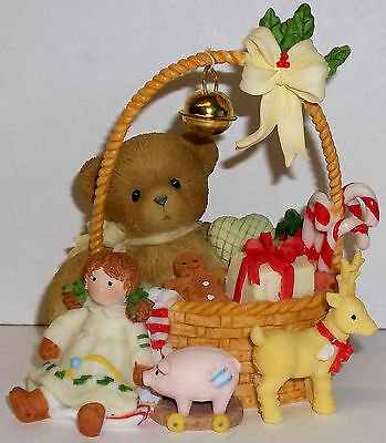Cherished Teddies Mila Figurine NEW Gather Holiday Cheer # 4010084
