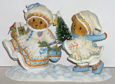 Cherished Teddies Anna Marie & Carl Figurine NEW # 4040463 Open Heart Laplander