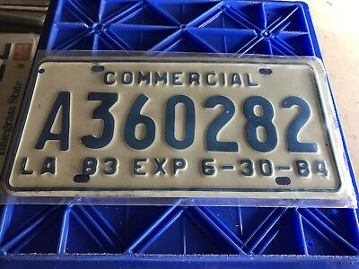 1983 Louisiana Commercial License Plate A360282