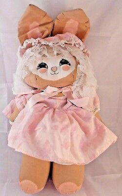 """Applause DOLLY Bunny Rabbit Large Plush Doll 19"""""""