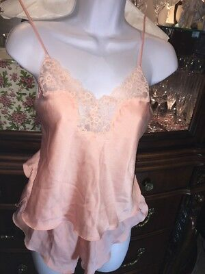 VICTORIAS SECRET Tap Panty Camisole SMALL Pin Up Sleep Nightie Babydoll S VTG