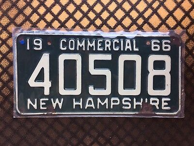 1966 New Hampshire Commercial License Plate 40508