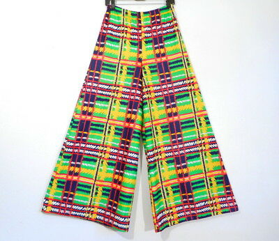 Vintage MOD PALAZZO PANTS 1960's 70's Funky Bell Bottoms 'Century of Boston' S/M