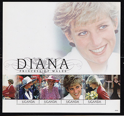 Princess Diana of Wales  Worldwide Souvenir Sheets 3 Volume set w/extra binders~