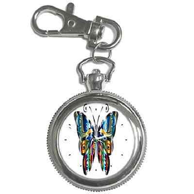 Butterfly Design Keychain Watch Chrome - Choose From 4 Designs - Great Item