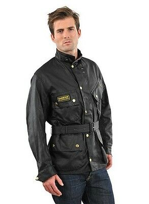 Barbour International Jacket With Belt, Size 36, Oversized