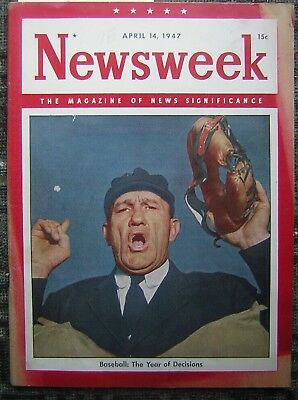 4/14/1947 Newsweek - The Magazine of News Significance - Baseball: The Year of..