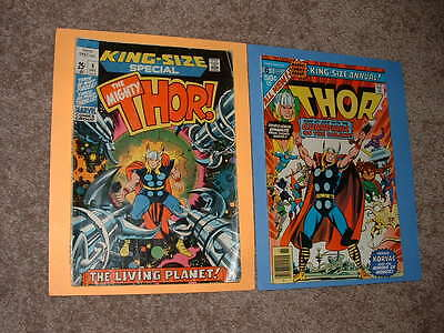 1971 & 1977 King Size Thor Special 4 & King-Size Annual 6 VG- & VF Free Shipping