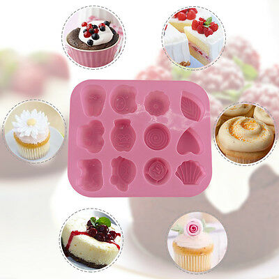 12 Molds Ecological Animal Shape Baby Graph Recognition Ice Grid Chocolate Mold