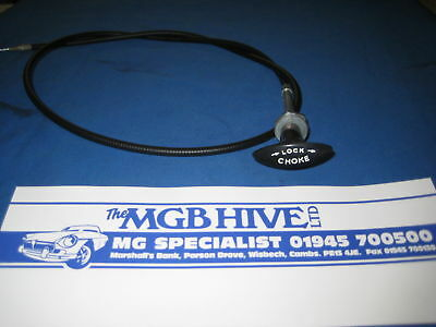 Mgb  Choke Cable 1976 On  Rubber Bumper T Pull Mgb Roadster & Gt Bhh2064    F3