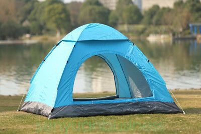 3-4 Person Man Camping Tent Family Travel Pop Up Fast Pitch Tent Hiking Outdoor
