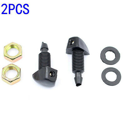 2Pcs Universal Auto Windscreen Washer Jet Water Spray Nozzle Fit Vehicle Car