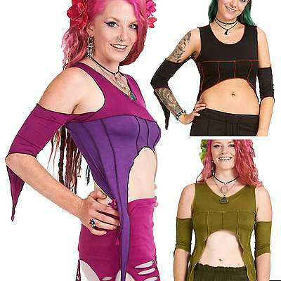 Pixie Crop Top, Psy Trance Clothing, Faery Elven Clothes, Hippy Festival Fashion
