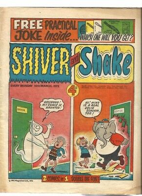 Shiver And Shake Number 1 Dated 10 March 1973. Good+ Condition.