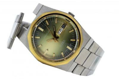 Watch Sofior Grey Automatic 25 Jewels All Steel Gree dial Day date Vintage NOS