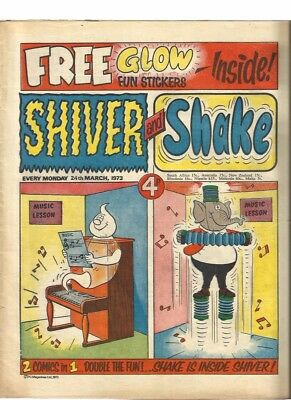 Shiver And Shake Number 3 Dated 24 March 1973. Very Good Condition.