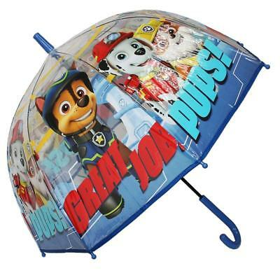 Paw Patrol - Kinder Regenschirm Stockschirm transparent
