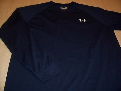 Under Armour Heatgear Loose Navy Blue Jersey Mens Large Excellent