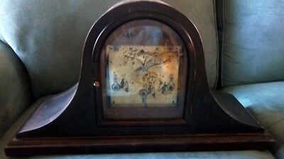 LARGE Quality Early Kienzle Mantle Clock Westminster Chimes Beveled Glass +++