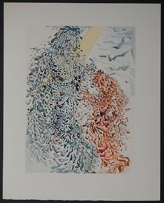 "Original Salvador Dali ""The dust of Souls"" Chant 11 - Woodcut Divine Comedy"