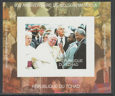 Chad 5622 - 2008 NELSON MANDELA & POPE deluxe sheet unmounted mint