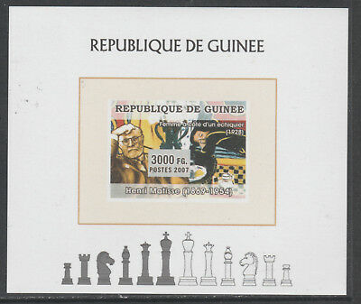 Guinea 5626 - 2008 CHESS deluxe sheet unmounted mint