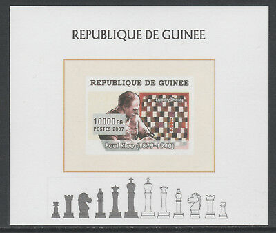 Guinea 5627 - 2008 CHESS deluxe sheet unmounted mint