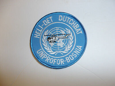 b3866 United Nations UN patch Heli-Det Dutchbat Unprofor-Bosnia R2A