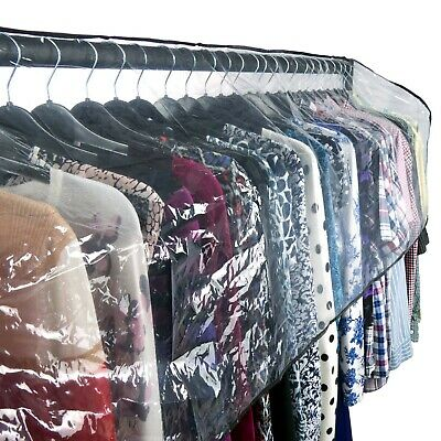 Hangerworld™ 6ft Clear Clothes Rail Cover Garment Protector Storage (Cover Only)