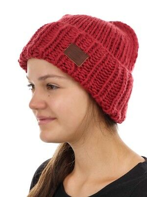 O'Neill Beanie Knitted Cap Pink Rose Chunky Knitted Warming