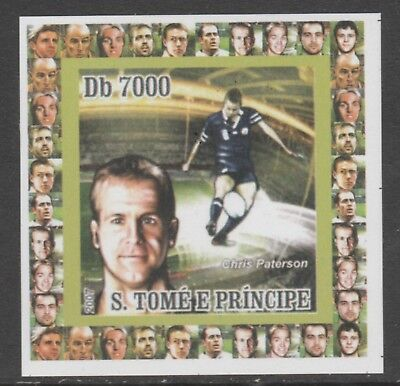 St Thomas & Prince 5645 - 2007 RUGBY  imperf deluxe sheet unmounted mint