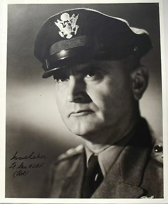 General Ira Eaker Signed Photograph Commander U.S Eight Air Force WW2 Authentic