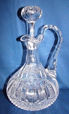 St. Louis Crystal Tommy Handled Whiskey Decanter
