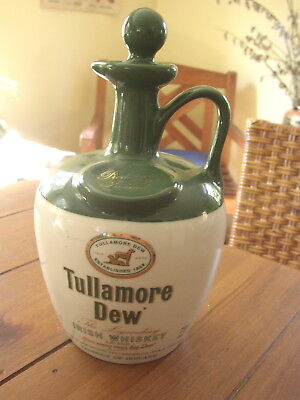 Tulamore Dew 750 ml empty ceramic Decanter, Wade, England