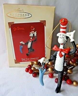 "Hallmark Ornament 2003 The Cat Arrives  Dr. Seuss's The Cat in the Hat ""NEW"""
