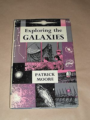 Patrick Moore - Exploring The Galaxies  , Vintage  Astronomy H/back ,odhams 1968
