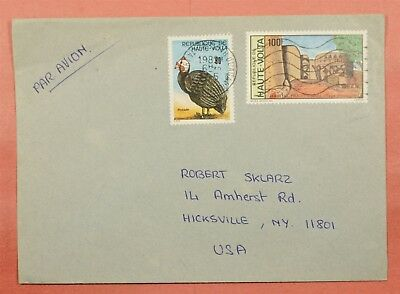 1975 Burkina Faso Multi Franked Airmail Cover To Usa